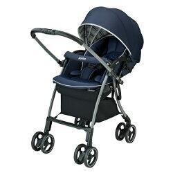 【Aprica】愛普力卡 LUXUNA Cushion 四輪自動定位嬰兒車 (玫瑰鑽石/深藍寶石)