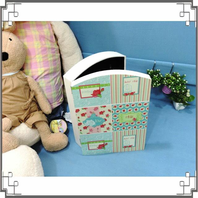 皮革KEY BOX《LK14-2》繡球花木製皮革鑰匙盒 收納盒 壁櫃 壁飾 鄉村風家飾◤彩虹森林◥