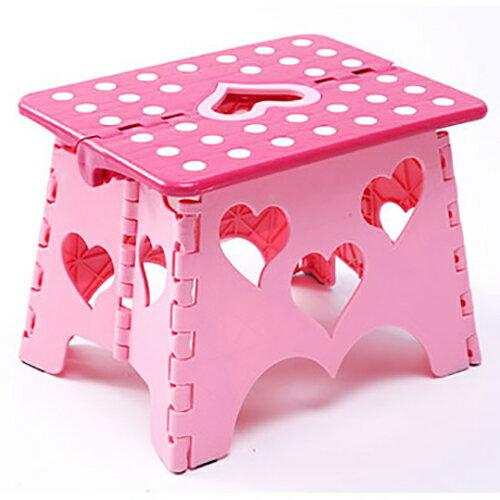 【親親寶貝】獨家專利設計愛心粉彩防滑折疊椅/摺疊凳/堅固耐用 30*23*22cm
