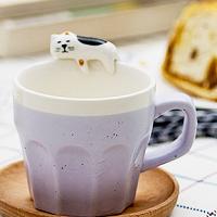婚禮小物推薦到多色杯緣子貓咪馬克杯 日本設計咖啡杯 情侶對杯 陶瓷杯 創意實用生日禮物 婚禮小物《波卡小姐 貓咪小物》FD0025