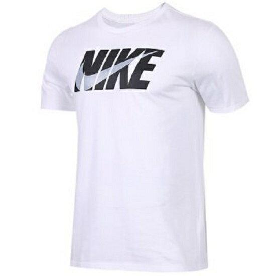 NIKESportswear男裝短袖休閒舒適基本款LOGO白黑【運動世界】AH2159-100