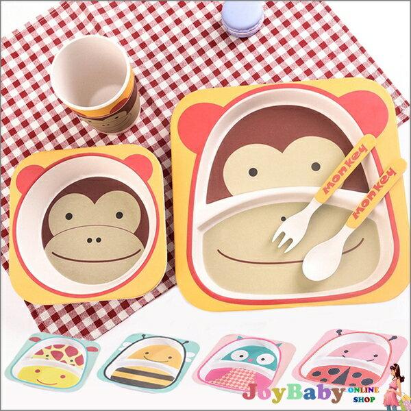 竹纖維兒童餐具幼兒環保天然安全卡通碗勺 杯 副食品 食器套組禮盒【JoyBaby】