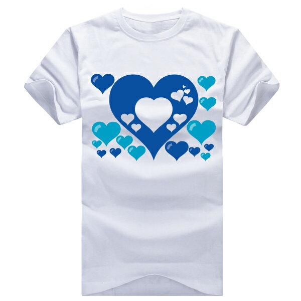 ◆快速出貨◆獨家配對情侶裝.客製化.T恤.最佳情侶裝.獨家款.純棉短T.MIT台灣製.藍色簍空愛心【Y0021】可單買.艾咪E舖 3