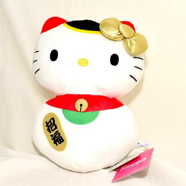 HelloKitty招福貓玩偶日本帶回正版品