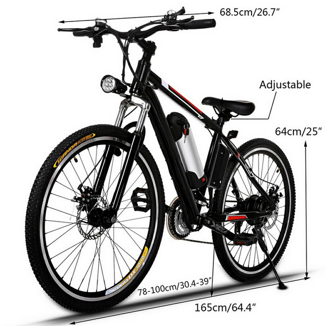 Ancheer 25 inch Wheel Aluminum Alloy Frame Mountain Bike Cycling Bicycle Black 4