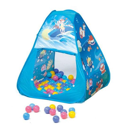 親親 三角帳篷折疊遊戲球屋+送100顆彩色球(彩盒裝)好窩生活節
