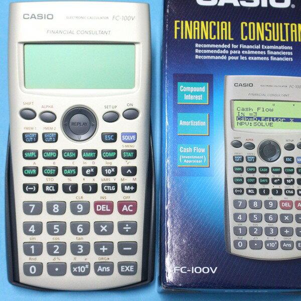 CASIO卡西歐 FC-100V 財稅型專用計算機 財務計算機/一台入{促1500}~公司貨 附保證書