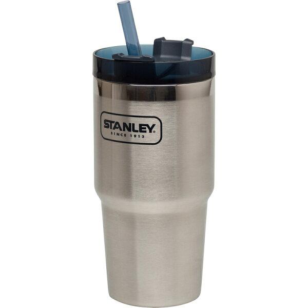 【【蘋果戶外】】Stanley1002662銀591ml美國冒險系列真空吸管隨手杯酷冰杯保溫杯保冰保冷10-02662