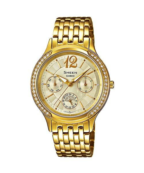 CASIO SHEEN SHE-3030BGD-9A耀眼星閃時尚腕錶/金色33mm