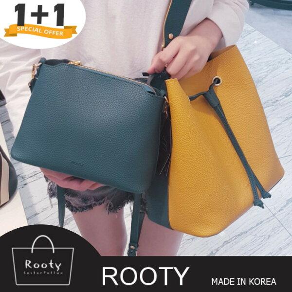 【2代款】肩背包正韓RootySena子母水桶側背包斜背包手提托特包NO.R453
