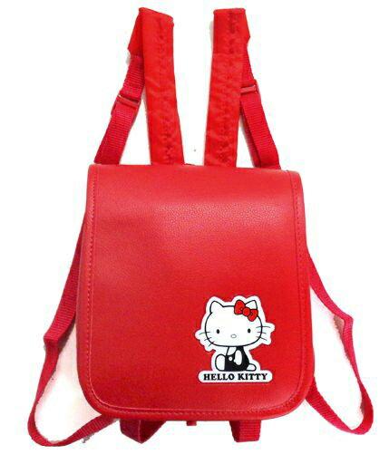 X射線【C010003】Hello Kitty 書包造型後背包景品-紅,美妝小物包/媽媽包/面紙包/化妝包/零錢包/收納包/皮夾/手機袋/鑰匙包