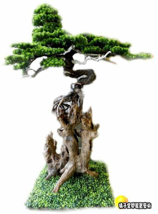 [橘子空間裝置藝術] 人造樹 仿真造型柏樹盆栽 (含花器) ☆人造樹.居家.店面.櫥窗.玄關.大廳擺飾.會場佈置.造景☆