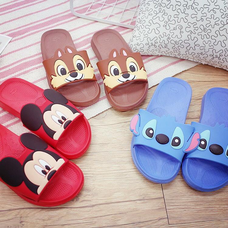 PGS7 日本迪士尼系列商品 - 迪士尼 造型 房水 室內 拖鞋 米奇 史迪奇 奇奇 【SFB7126】