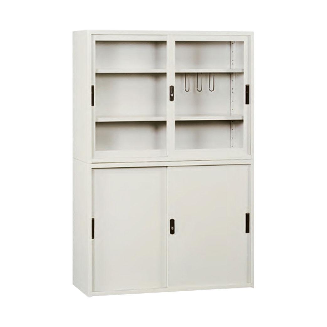 【哇哇蛙】玻璃拉門文件櫃 KG-118+KS-118 拉玻+拉門 辦公 學校 收納 文件報表 置物櫃 分類櫃 隔間櫃 鐵櫃 資料櫃