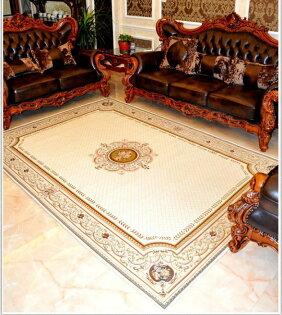 幸福家居商城:網路最低價夏季清爽最新款120*180歐洲宮廷貴族風簡約高級尊貴氣派客廳地毯