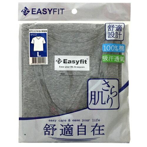 EASY FIT 彩色V領短袖(EF112) L 隨機