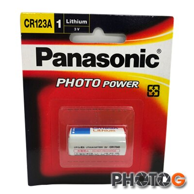 panasonic CR123A 鋰離電池 (非可充電式;一次性電池)