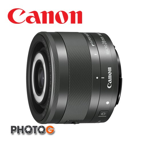 CANON canon EF-M 28mm f/3.5 Macro IS STM ( 內置 LED 環形補光燈 , 28mm 定焦 微距 ;彩虹公司貨 eosm m2 m3 m10 )