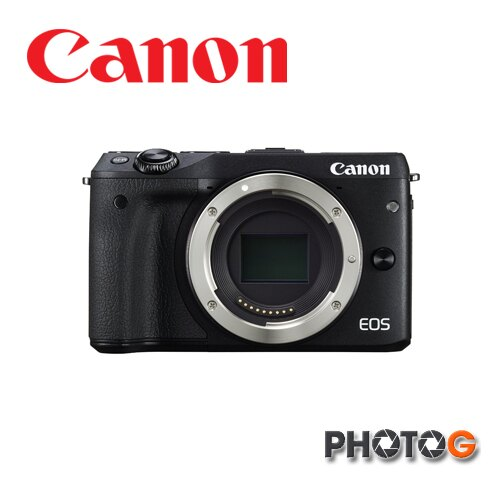 Canon EOS M III  body  單機版  不含鏡頭 M3 + 一機一鏡包+32G+清潔組+保護貼 + 縫卡   彩虹公司貨 eosm3    (公司貨)