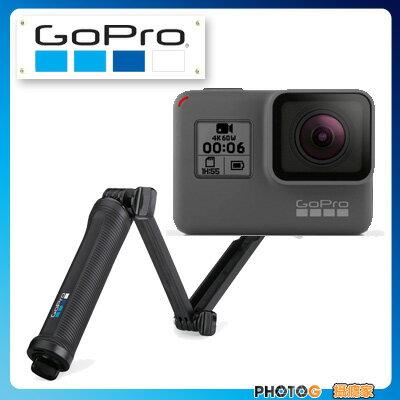 【送64G V30版 記憶卡】GoPro HERO6  hero6   運動攝影機 + 原廠三合1固定支架  夜拍 4K 60格 錄影 防震 觸控變焦  【台閔公司貨】 - 限時優惠好康折扣