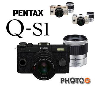 【12期0利率】Pentax Q-s1 QS1 雙鏡組 迷你微單眼 送32G+清潔組 (含5-15mm + 15-45mm 鏡頭,富堃公司貨) Q後繼機