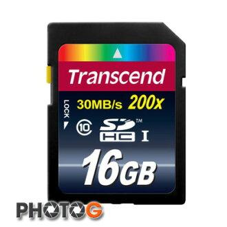 創見 Transcend SDHC 16G / 16GB 200X 記憶卡 (Class 10,終身保固)