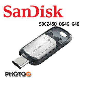 SanDisk 64g 64GB CZ450 ULTRA USB TYPE-C 隨身碟 SDCZ450-064G-G46 (公司貨)