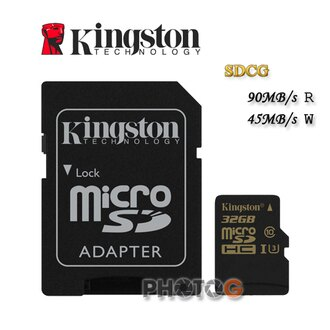 【代理商公司貨】600X Kingston SDCG microSDHC / SD 32GB 32G class 10 UHS-I U3 讀90mb/S 寫45mb/s 4K2K 錄影 運動攝影 空拍..