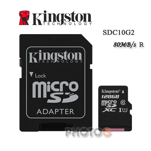 金士頓 KingSton 128G/128GB microSDHC/SDXC 記憶卡 SDC10G2  – Class 10 UHS-I ,終身保固,T-Flash/microSD