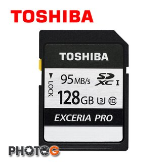 (new) 東芝 TOSHIBA 128GB 128G EXCERIA PRO SDHC UHS-I U3 Class 3 N401 銀炫高速 記憶卡 (公司貨) (讀95MB/s、寫75MB/s) ..
