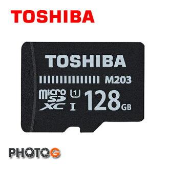 (new) Toshiba EXCERIA™ 128g 128GB microSDXC / SDHC卡 M203 UHS-I class10 ( M203 讀100mb/s ) 手機用 記憶卡 (富基..