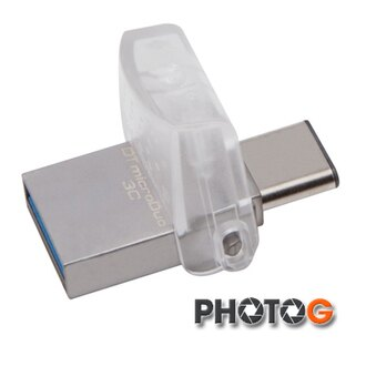 【代理商公司貨】KingSton 金士頓 32G / 32GB DataTraveler microDuo 3C Type-C type-c USB 3.0 版 雙用隨身碟 DTDUO3C/32G (..