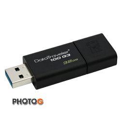 【代理商公司貨】KingSton 金士頓  32G / 32GB   DataTraveler 100 G3 隨身碟 DT100G3/32GB (郵寄免運費)