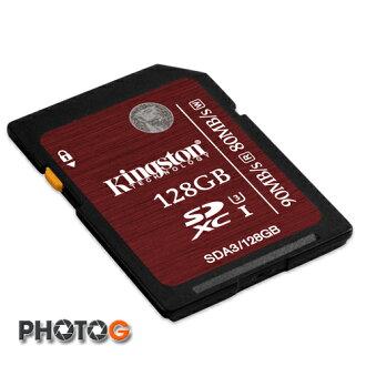 Kingston SDA3 SDXC 128GB 128G class 10 UHS-I U3 讀90mb/S 寫80mb/s 終身保固