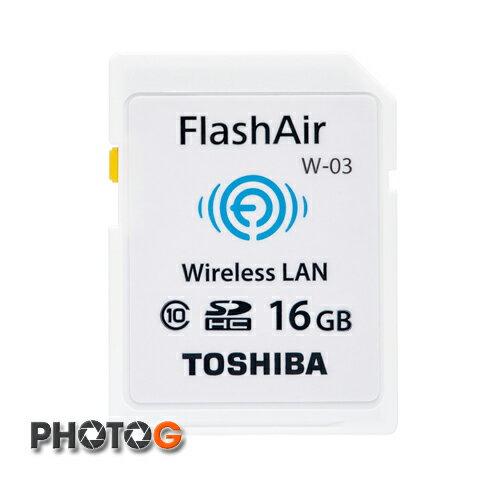 TOSHIBA SDHC 16GB Class 10  WIFI W03 第三代記憶卡  ( wifi ,富基公司貨;五年保固)