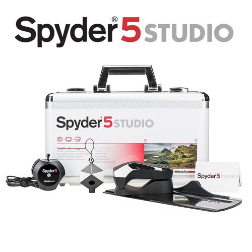 【全館免運費】Datacolor spyder5 SpyderStudio? ( 旗艦組 ) SPYDER5 螢幕校色器 立體灰卡 (永準公司貨)