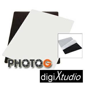 digiXtudio 60x60cm 攝影棚專用黑白大尺寸珠寶台 / 鏡射板 / 倒影板 / 特效 ( 網拍 模型 保養品 倒影)