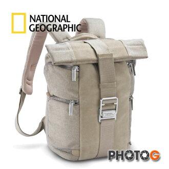 NG 國家地理 P5080 典藏系列 高級帆布與麂皮結合 後背包 雙肩背包  攝影包 (正成公司貨)
