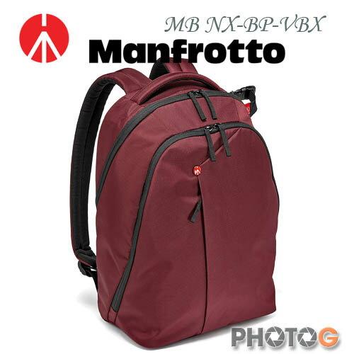 Manfrotto MB NX-BP-VBX 酒紅色 Backpack 開拓者雙肩後背包 (正成公司貨)