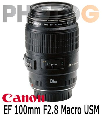 【分期零利率】CANON canon EF 100mm F2.8 Macro USM 中望遠微距鏡頭(100 2.8;公司貨)