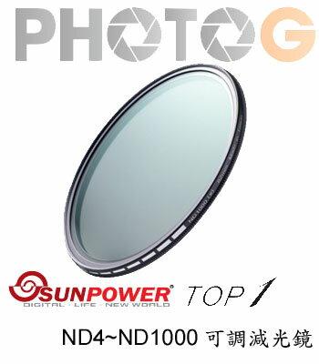 SUNPOWER TOP1 62mm SMRC Multi Adjustable ND Filter ND4~ND1000 (湧蓮公司貨)