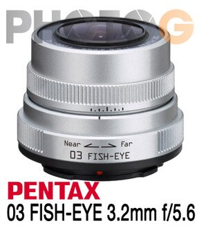 PENTAX Q 03 FISH-EYE 3.2mm F5.6 魚眼鏡頭 (3.2 ;富?公司貨一年保固)