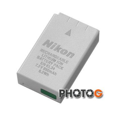 photoG:NikonEN-EL24原廠鋰電池;nikon1J5,(ENEL24,保證真品,絕非仿冒低劣製品)