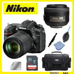 送64G 等六大好禮 Nikon D7200 Kit 18-140mm VR  + 35mm f1.8G  旅遊+人像 完美 原廠 雙鏡套組  (國祥公司貨)