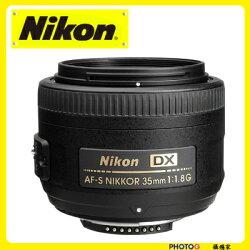 Nikon AF-S Nikkor  DX 35mm F1.8G 標準鏡頭 人像鏡 D40/D40X/D60(35 1.8; 國祥公司貨)