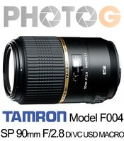 Canon佳能到『隨貨送白平衡濾鏡』F004 Tamron 騰龍( f004 ) SP 90mm F/2.8 Di VC USD MACRO1:1 微距鏡頭 (90_28;俊毅公司貨)