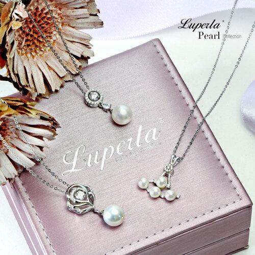 大東山珠寶 純潔浪漫 純銀晶鑽珍珠項鍊 7