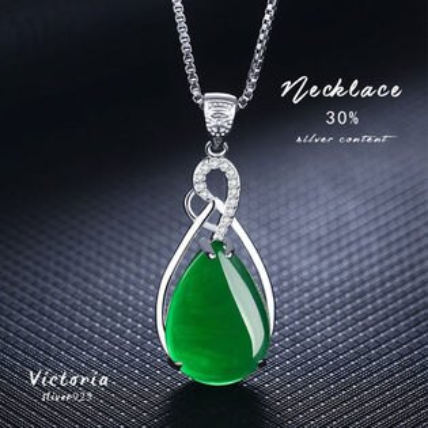 Victoria:S925銀甜美魅力、迷人風采玉髓項鍊-維多利亞170247