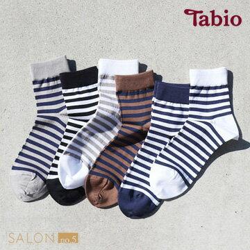 ★女人我最大推薦★【靴下屋Tabio】經典休閒條紋棉短襪日本職人手做