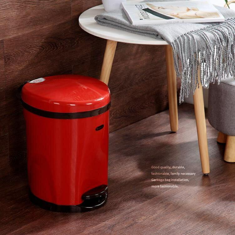 創意歐式家用垃圾桶 腳踏式客廳臥室廚房衛生間大號垃圾筒帶蓋  秋冬新品特惠